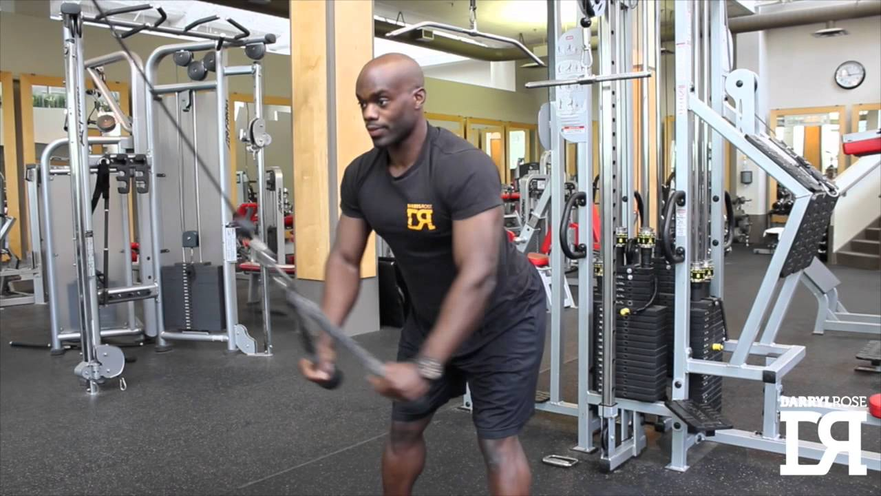 Straight arm pulldown alternative