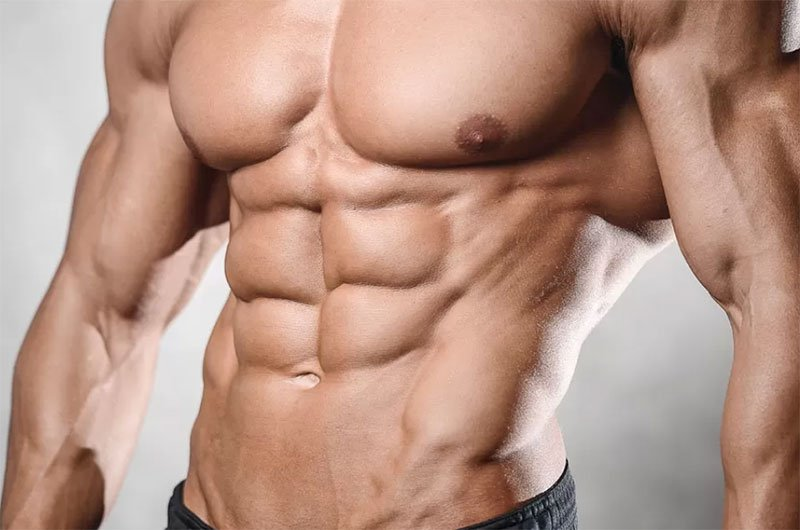 Man Showing His Ripped Abs